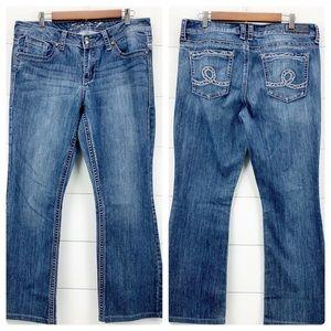 Seven7 Slim Boot Regular Rise Mid Wash Size 12